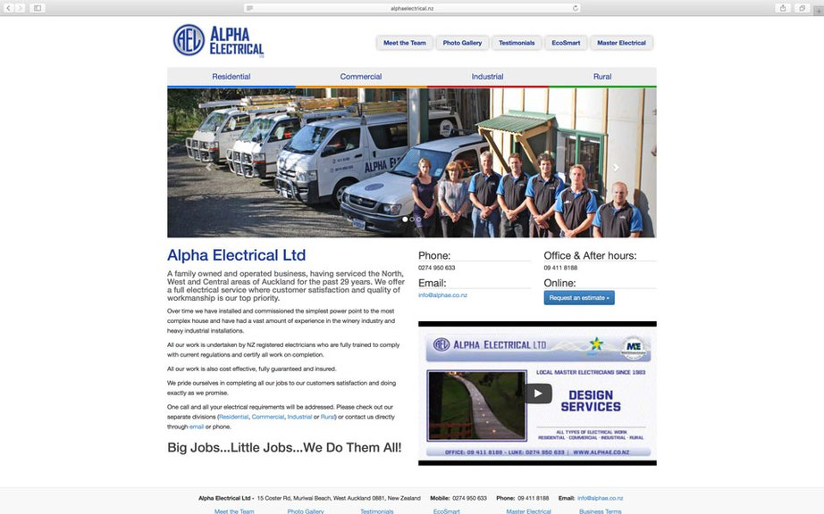 Alpha Electrical Website